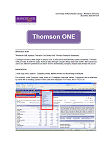 Thomson ONE guide